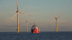 A picture of and offshore wind farm that EIP invested in recently.